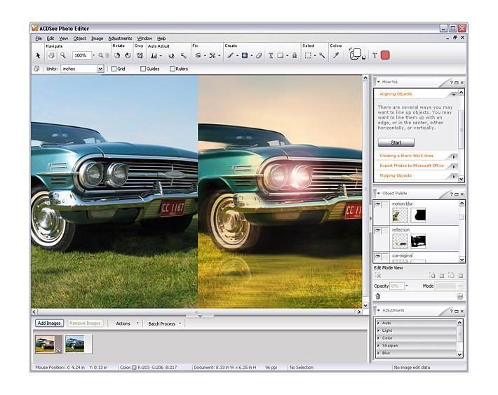 Посмотреть скриншот ACDSee Photo Editor.