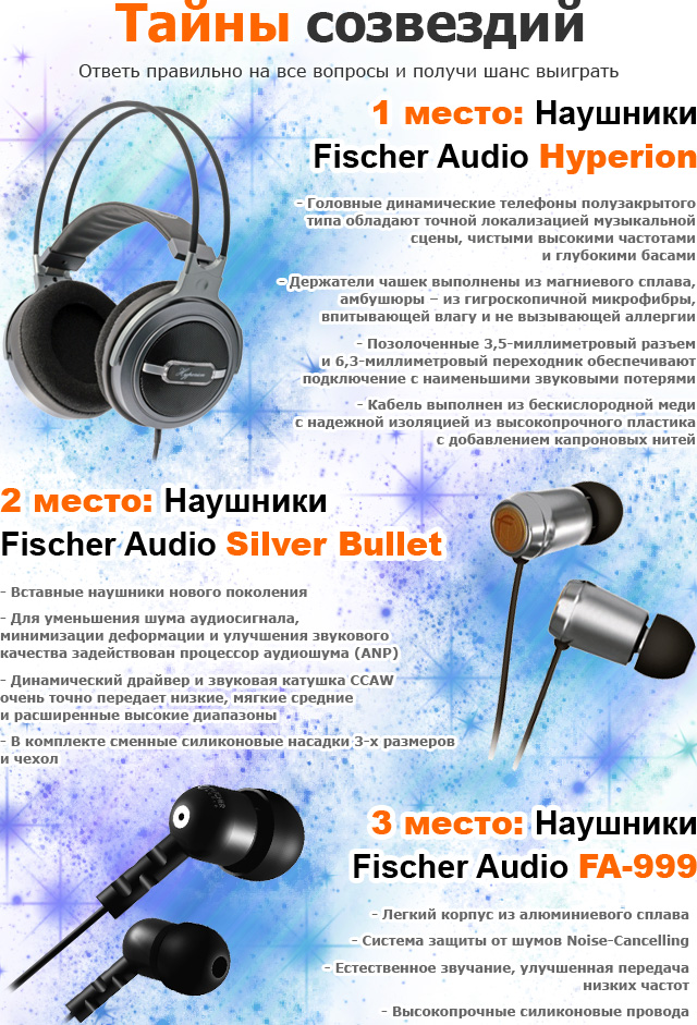 Призы от Fischer Audio