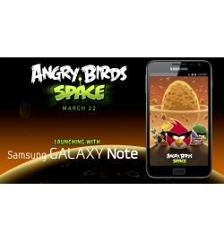 Игра Angry Birds Space на Samsung GALAXY Note