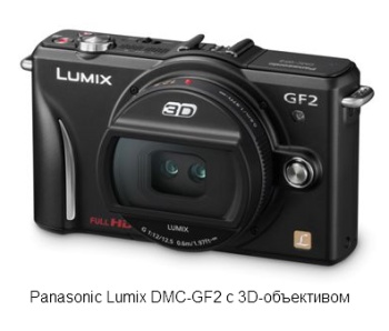 Фотокамера Panasonic Lumix DMC-GF2 с 3D-объективом